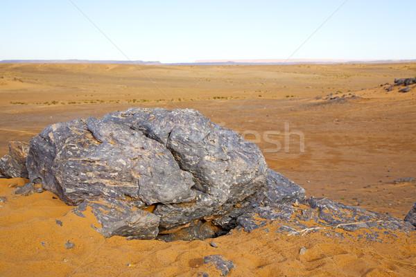 Velho fóssil céu deserto Marrocos Foto stock © lkpro