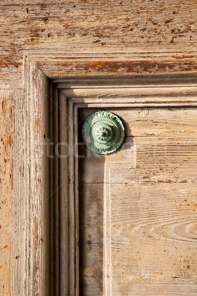 abstract   rusty brass    door curch  closed wood    varese lona Stock photo © lkpro