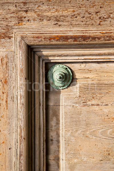抽象的な さびた 真鍮 ドア 閉店 木材 ストックフォト © lkpro