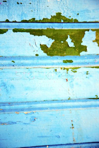 Mavi paslı Fas Afrika yeşil Metal Stok fotoğraf © lkpro