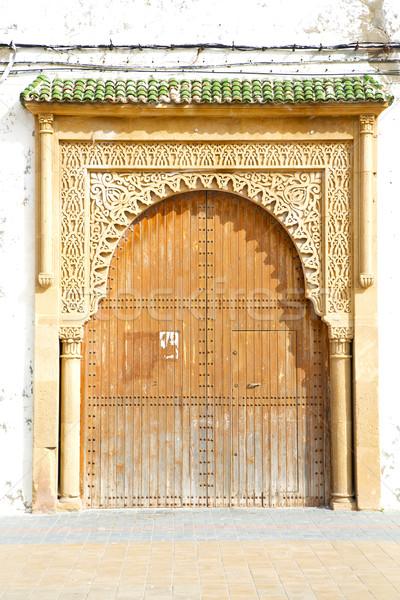 Histórico antigo edifício porta Marrocos estilo Foto stock © lkpro