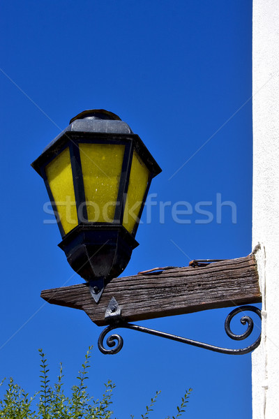 street lamp  and a wall of house in calle los suspiros Stock photo © lkpro