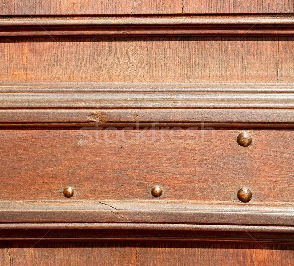 door    in italy old ancian wood and traditional  texture nail Stock photo © lkpro