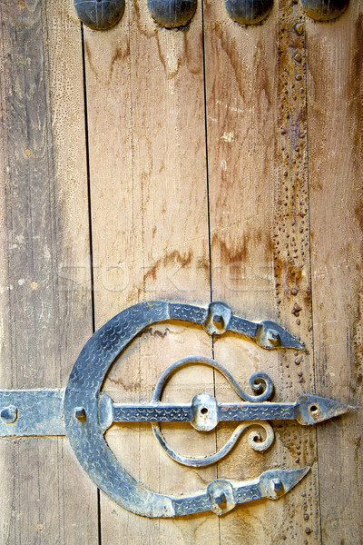 Roestige Marokko afrika oud hout veilig bruin Stockfoto © lkpro