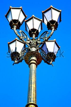 Utcalámpa Marokkó Afrika öreg lámpás kint Stock fotó © lkpro