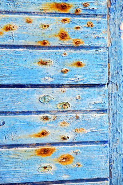 stripped paint in   blue wood red Stock photo © lkpro