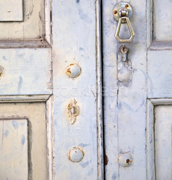 抽象的な 家 ドア イタリア パッチ 列 ストックフォト © lkpro