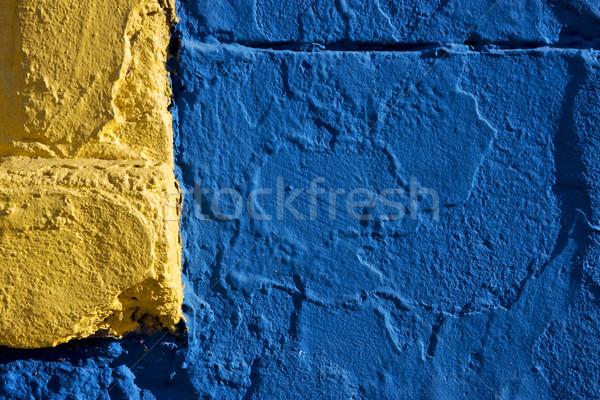 Gekleurd muur Geel Blauw la Buenos Aires Stockfoto © lkpro