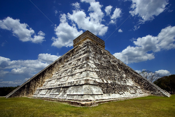 corner  of chichen itza temple Stock photo © lkpro