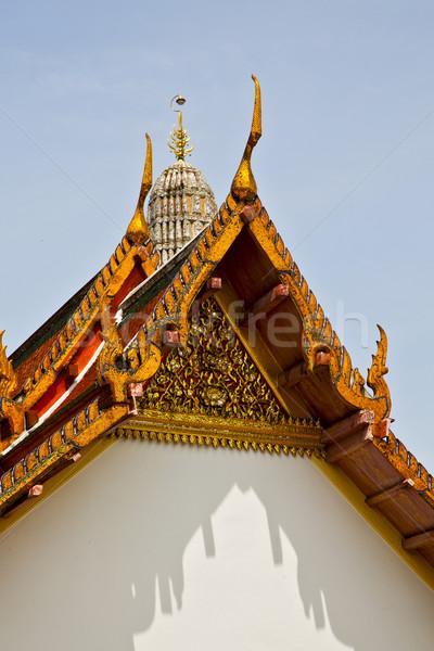 Asia Bangkok zonnige tempel kleuren mozaiek Stockfoto © lkpro
