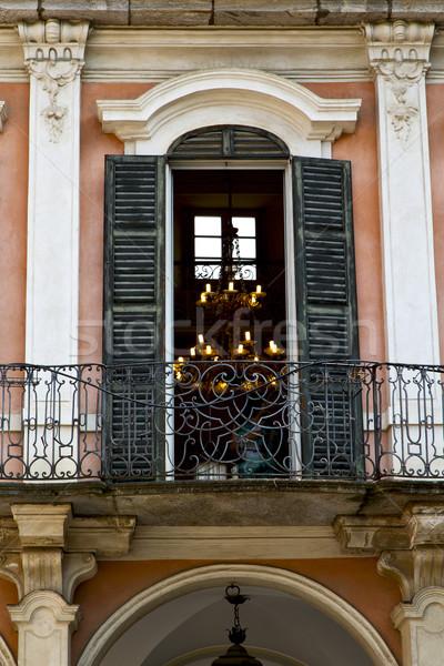 赤 テラス ヨーロッパ イタリア ミラノ 古い ストックフォト © lkpro