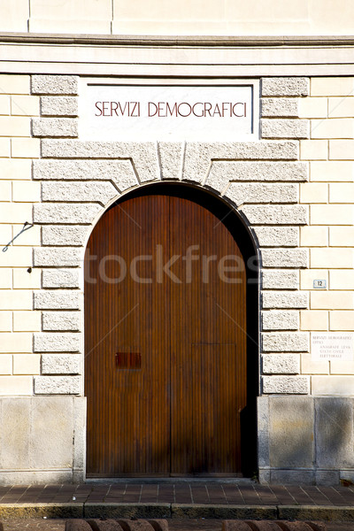 door italy  lombardy     in  the milano old   church     Stock photo © lkpro