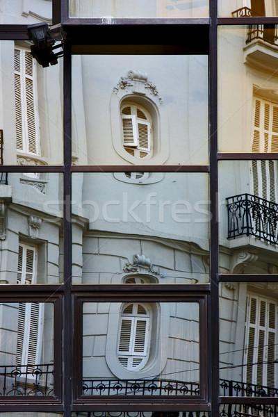 Reflexo palácio casa janela centro Buenos Aires Foto stock © lkpro