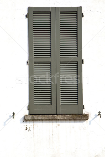 shutter europe  italy  lombardy      in  the milano old   window Stock photo © lkpro