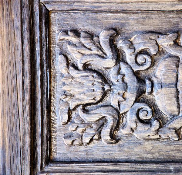 abstract door wood in the brown spain Stock photo © lkpro