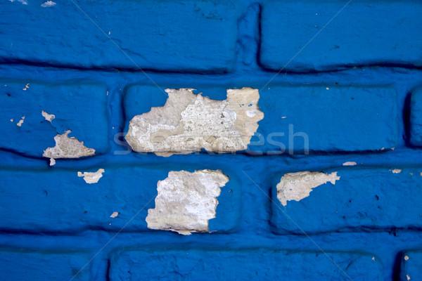 сломанной синий стены Уругвай крест Сток-фото © lkpro