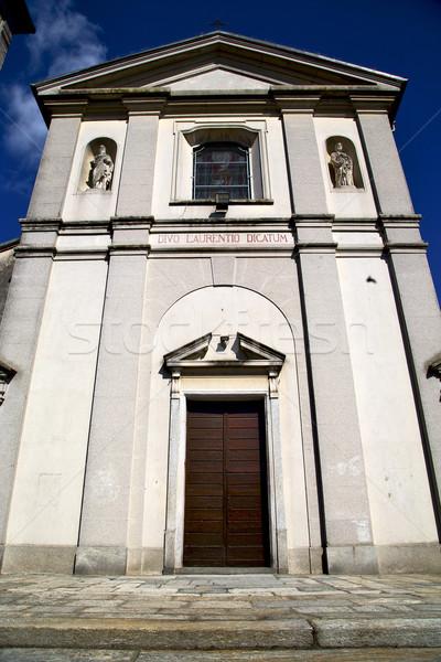 Сток-фото: Церкви · старые · закрыто · кирпичных · башни · тротуаре