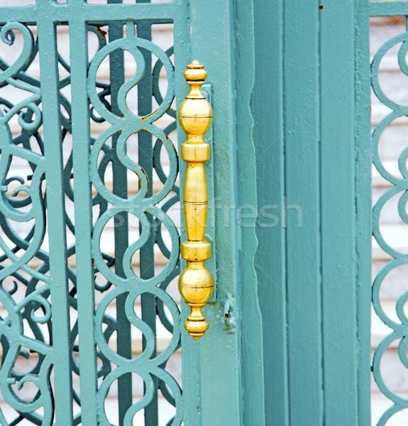 Kék fém rozsdás barna Marokkó Afrika Stock fotó © lkpro