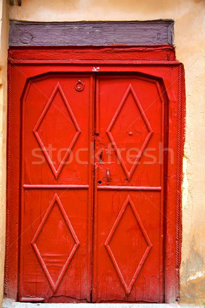 Tarihsel mermer antika Bina kapı Fas Stok fotoğraf © lkpro