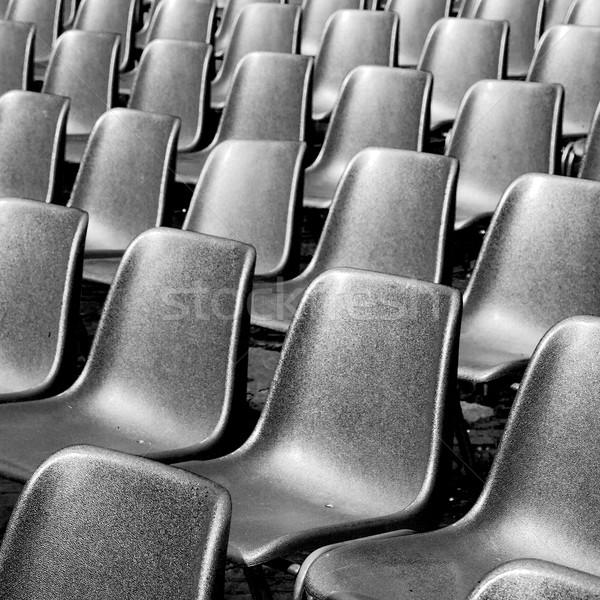 Boş koltuk İtalya Avrupa siyah doku Stok fotoğraf © lkpro