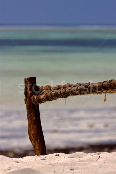 Panchina corda spiaggia mare natura Foto d'archivio © lkpro