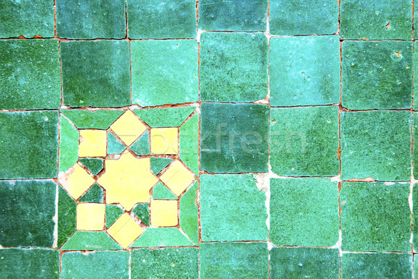 abstract morocco in africa  green Stock photo © lkpro