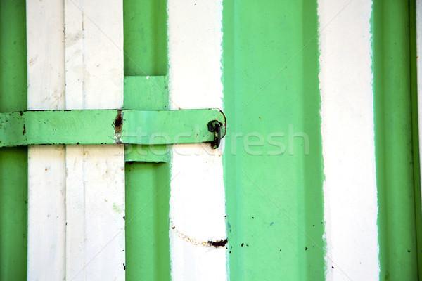Verde metal enferrujado Marrocos África madeira velha Foto stock © lkpro