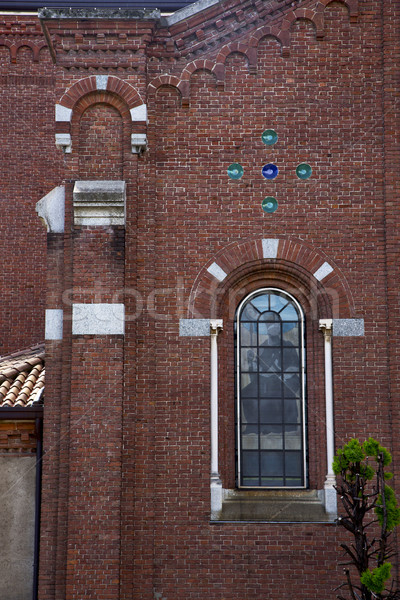 rose window  italy  lombardy     in  the   campo     closed bric Stock photo © lkpro