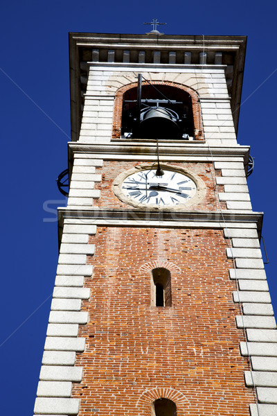 somma lombardo old abstract in    and church tower bell sunny da Stock photo © lkpro