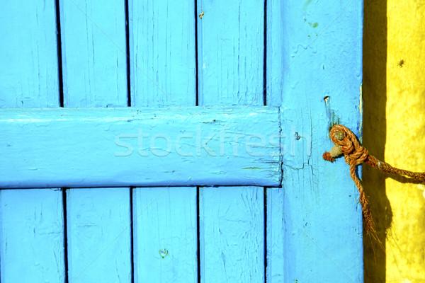 Kék fém rozsdás barna Marokkó citromsárga Stock fotó © lkpro