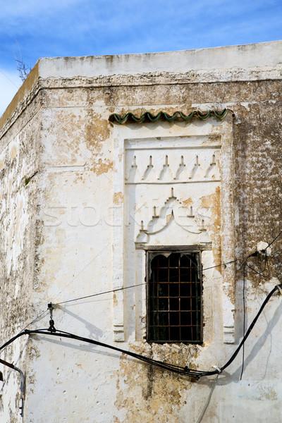 モロッコ アフリカ レンガ 歴史的 ウィンドウ 古い ストックフォト © lkpro