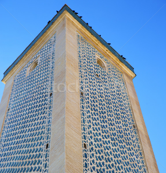 the history in maroc africa  minaret religion and  blue    sky Stock photo © lkpro