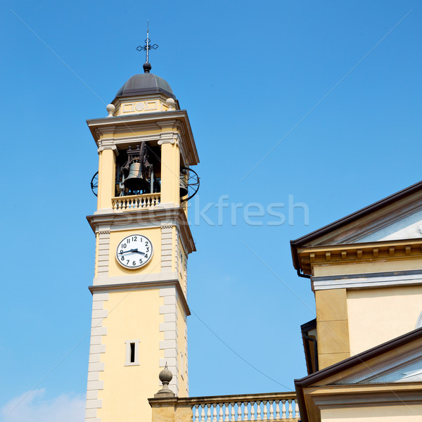 ancien clock tower in italy europe old  stone and bell Stock photo © lkpro