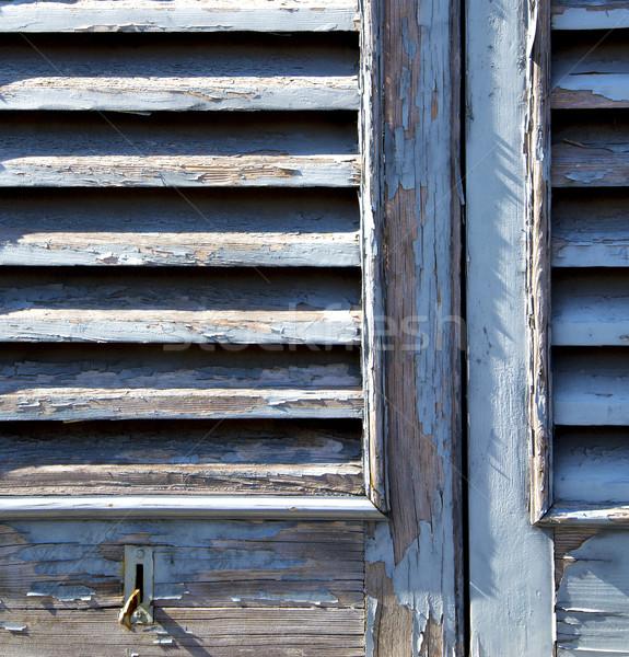 Szürke ablak redőny beton tégla Olaszország Stock fotó © lkpro
