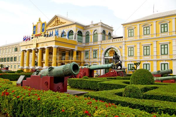 大砲 バンコク タイ フラグ アーキテクチャ 庭園 ストックフォト © lkpro