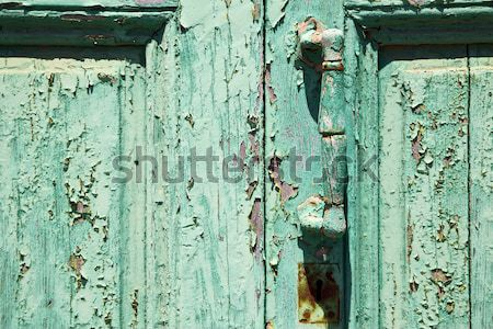 rusty metal nail dirty stripped paint in the blue   Stock photo © lkpro