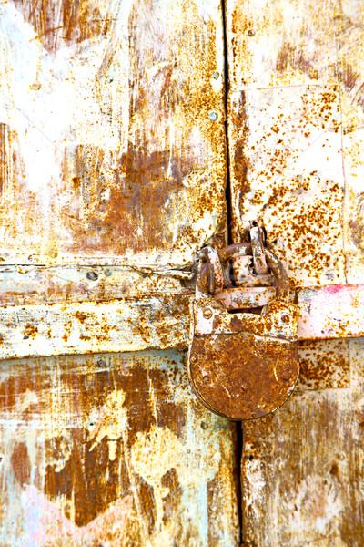 Rusty marrón Marruecos África rojo casa Foto stock © lkpro