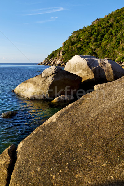 stone in thailand kho tao bay abstract of a blue l  Stock photo © lkpro
