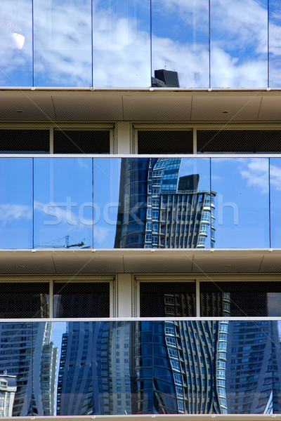 reflex of some palace in  buenos aires  and a crane Stock photo © lkpro