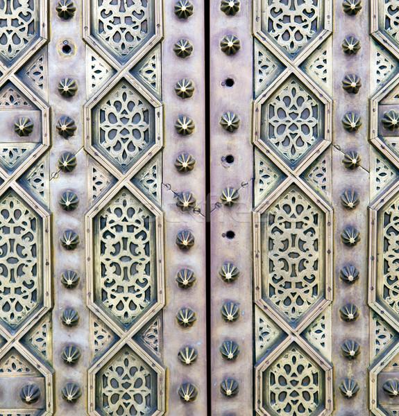 Szürke fém rozsdás Marokkó Afrika régi fa Stock fotó © lkpro