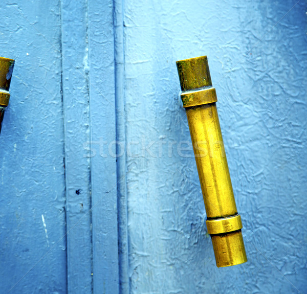 gold  metal rusty      morocco in africa the old blue Stock photo © lkpro