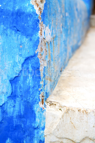青 テクスチャ 壁 ステップ アフリカ 抽象的な ストックフォト © lkpro