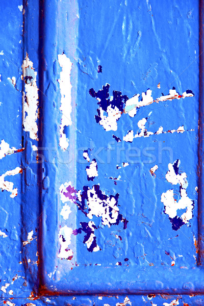 ногтя краской синий двери ржавые древесины Сток-фото © lkpro