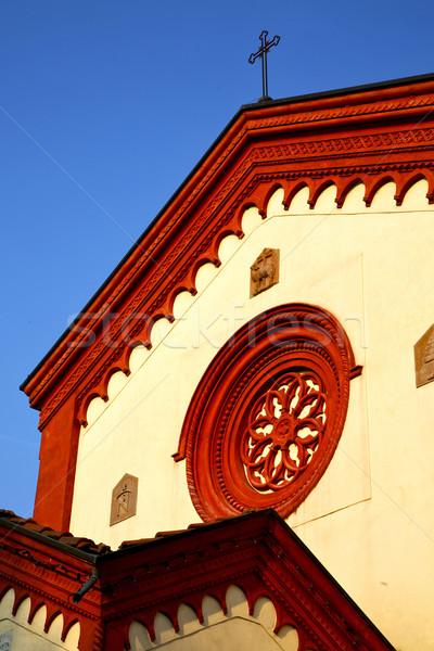 Rózsa ablak Olaszország öreg templom zárva Stock fotó © lkpro
