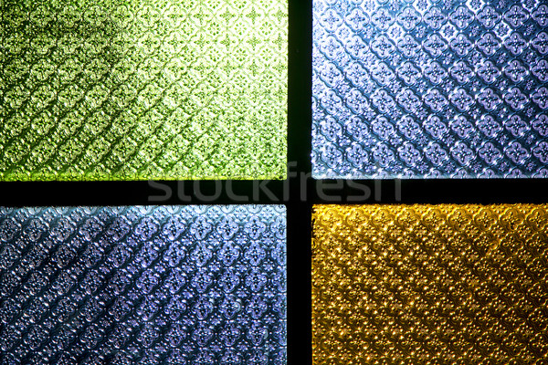 colorated glass and sun in  africa window  Stock photo © lkpro