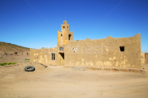 old brown construction in africa morocco and sky  near   Stock photo © lkpro