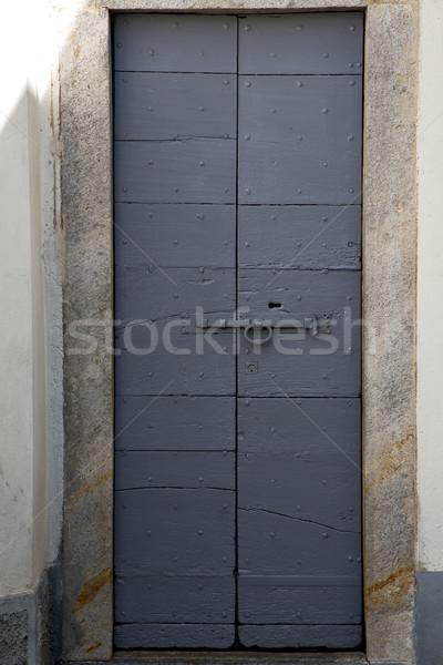 Europie Włochy zamknięte bruk drzwi Zdjęcia stock © lkpro