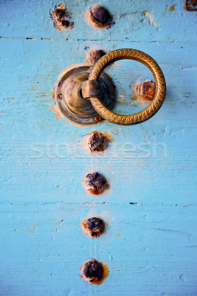 rusty metal nail dirty stripped paint  Stock photo © lkpro
