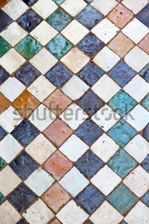Résumé Maroc Afrique carrelage trottoir texture Photo stock © lkpro