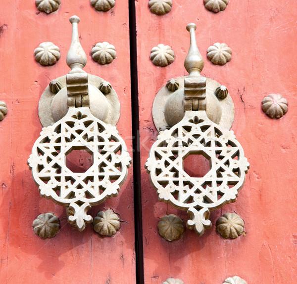 Métal rouillée brun Maroc Afrique vieux bois Photo stock © lkpro